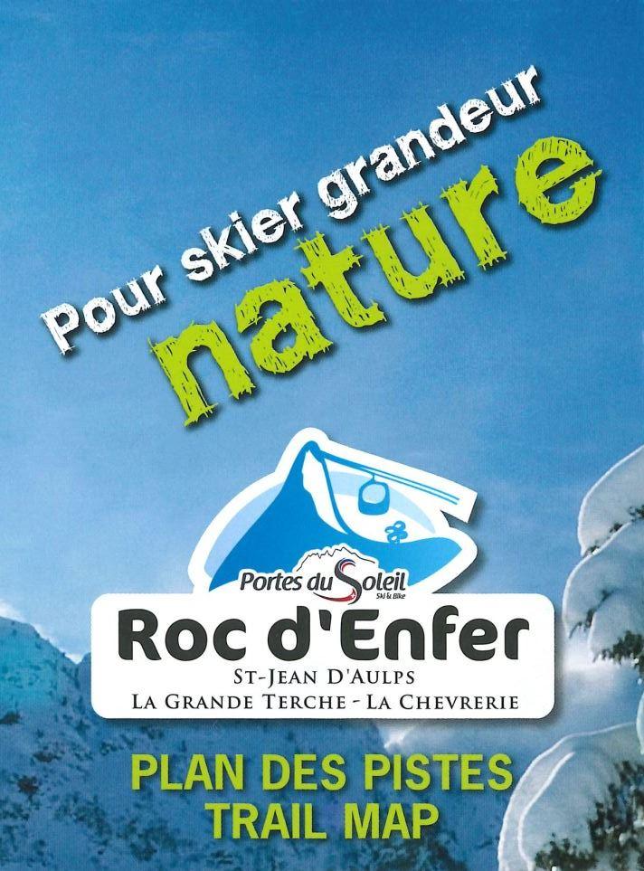 Plan de pistes ski alpin Bellevaux La Chèvrerie -  Roc d'Enfer
