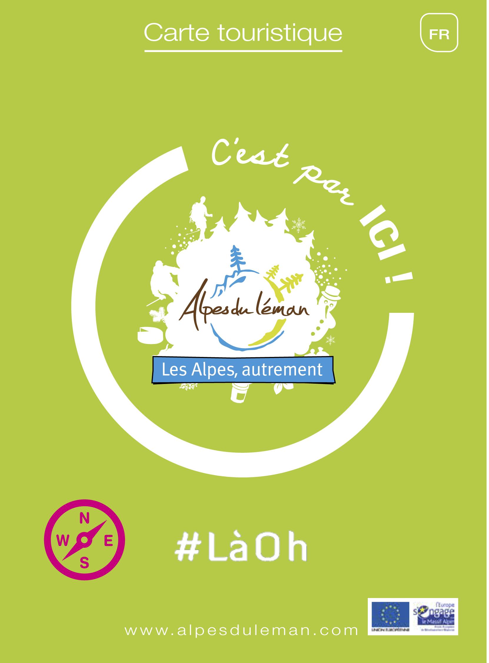 Carte touristique 4 saisons des Alpes du Léman