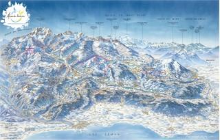 Carte 3D des Alpes du Léman