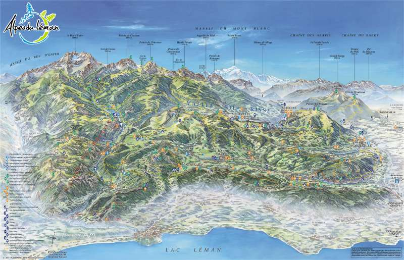 Carte été 3D Alpes du Léman