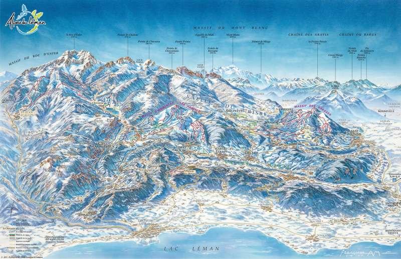 Plan hiver 3D Alpes du Léman