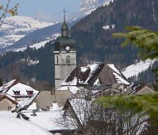 village-lullin-hiver vallee du brevon