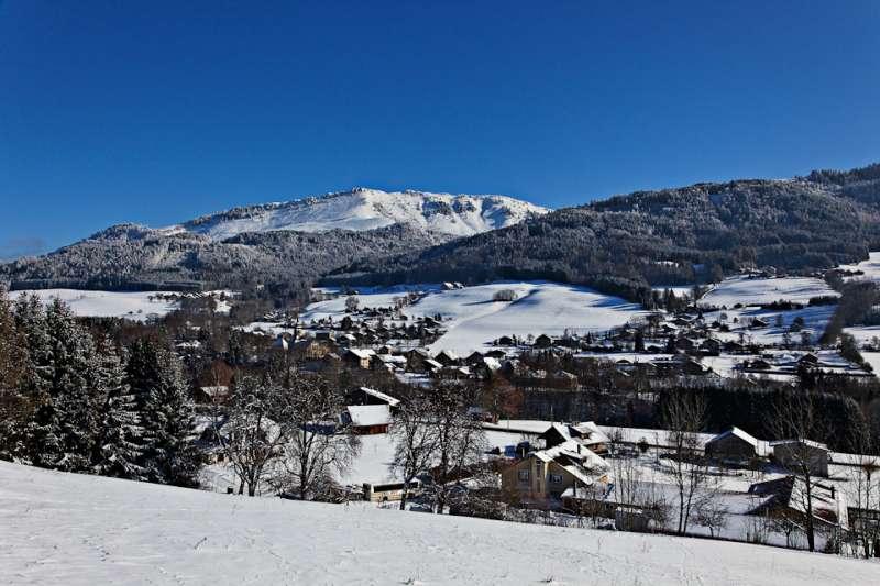 Habère-Lullin en hiver