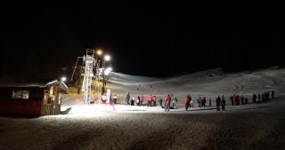 Ski nocturne à Lullin